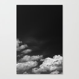 Black sky Canvas Print
