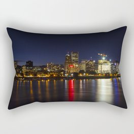Portland Skyline Rectangular Pillow