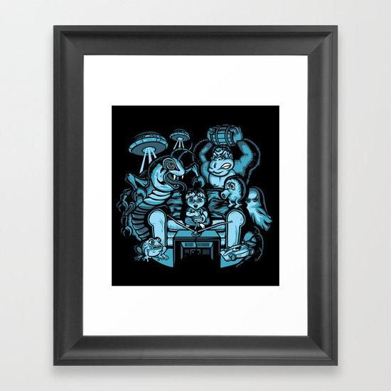 Game Over Framed Art Print