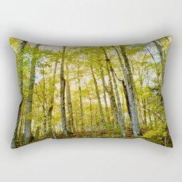 Birches in Autumn Light Rectangular Pillow