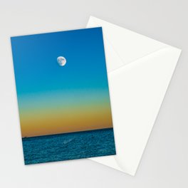 Moon Rising Over Chicago's North Shore Stationery Cards