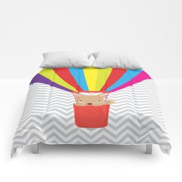 hot air balloon , Comforters