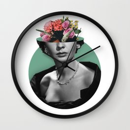 Jean simmons Floral Wall Clock
