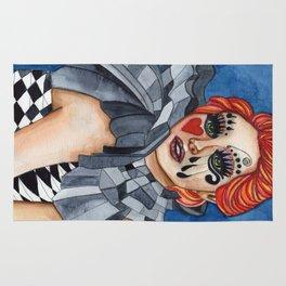 Harlequin - watercolor Rug