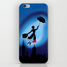 Magical night : Mary Poppins iPhone & iPod Skin