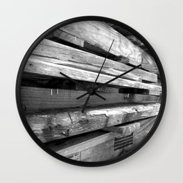 Stacked to the Sky Wall Clock
