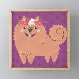 Pomeranian Princess Framed Mini Art Print