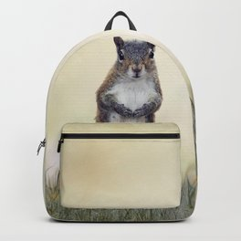 Eastern gray squirrel in the grass Backpack