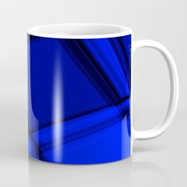 Charcoal nautical curved strokes with crisp, chaotic meshes of intersecting Scottish stripes. Coffee Mug