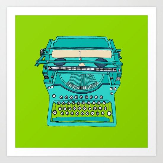 Typewriter number four Art Print