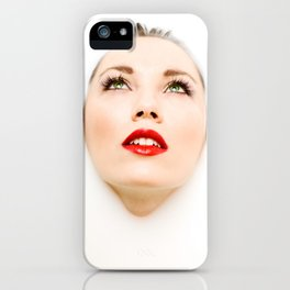 Face In Milk iPhone Case