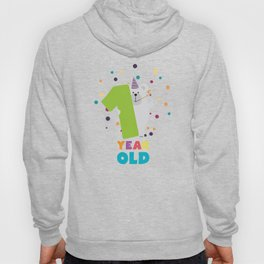 One Year first Birthday Party T-Shirt Dqk1q Hoody
