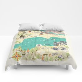 Princess Bride Discovery Map Comforters
