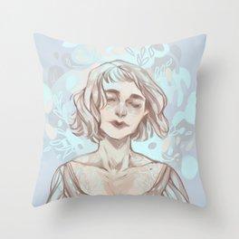 Snow Lady  Throw Pillow