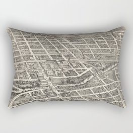 Vintage Pictorial Map of Reno Nevada (1907) Rectangular Pillow