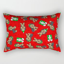 Merry Yorkies Rectangular Pillow