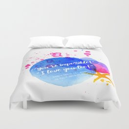 "Percy Jackson Percabeth House of Hades ""I love you too!"" Quote Duvet Cover"