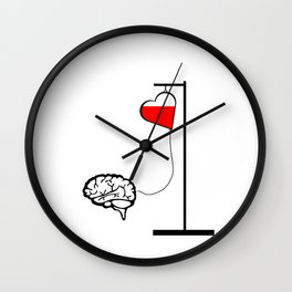 Brain and heart Wall Clock