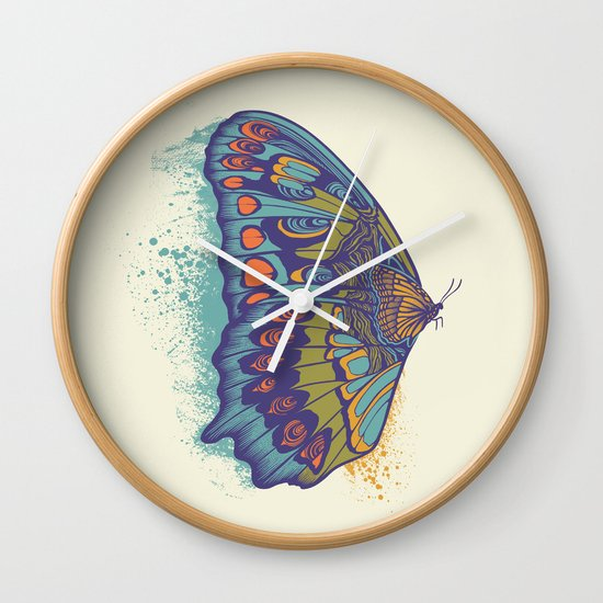 Butterfly Life Cycle Wall Clock
