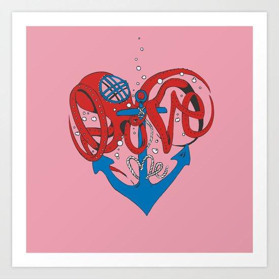 Deeply in Love Art Print