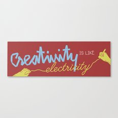 creativity is like electricity Canvas Print