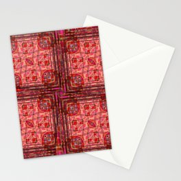 no. 197 orange pink pattern Stationery Cards