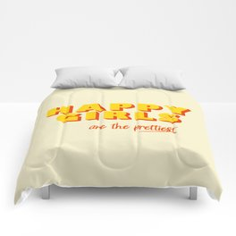 Happy Girls - typography Comforters
