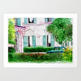 Somewhere in Italy Art Print