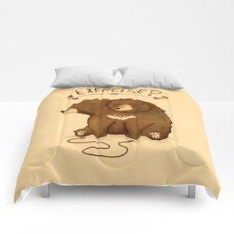 Fitness Bear by Devon Baker Comforters