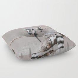 RINGTAILED LEMUR FAMILY by Monika Strigel Floor Pillow