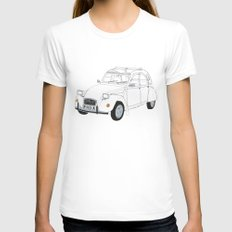 Citroën 2CV Womens Fitted Tee LARGE White