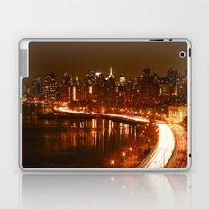 New York City Night Skyline. Laptop & iPad Skin