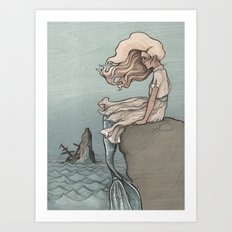 Evolution of a Mermaid Art Print