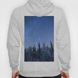 Shimmering Blue Night Sky Stars 2 Hoody