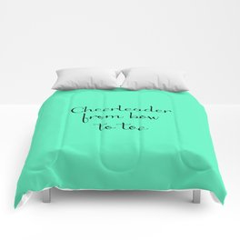Cheerleader - Mint Comforters