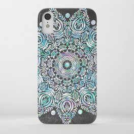 Mermaid Mandala on Deep Gray iPhone Case