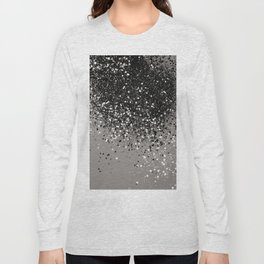 Silver Gray Glitter #1 #shiny #decor #art #society6 Long Sleeve T-shirt