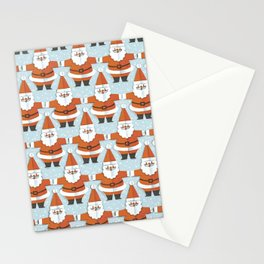 Cute Santa Claus hand drawn on old paper. Vintage christmas illustration pattern. Lovely father christmas pattern. Grunge paper texture. Stationery Cards