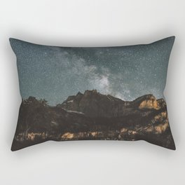 Space Night Mountains - Landscape Photography Rectangular Pillow