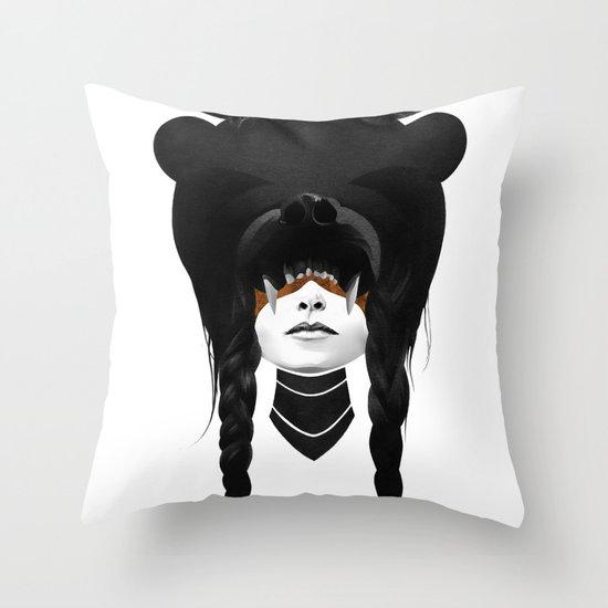 Bear Warrior Throw Pillow