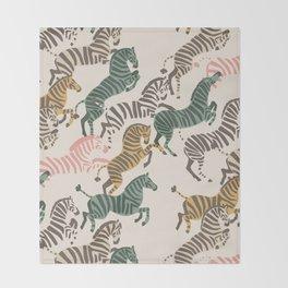 Zebra Stampede Throw Blanket