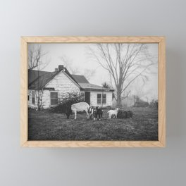 Foggy Morning on the Farm Framed Mini Art Print