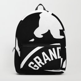 Grand Teton National Park Wyoming Grizzly Bear Vintage Travel Sign Backpack