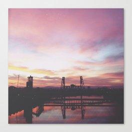 Steel Bridge Sunrise Canvas Print