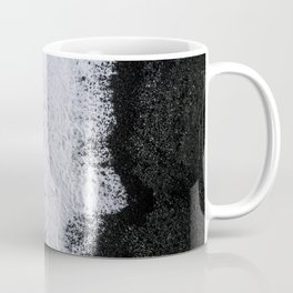 Aerial of a Black Sand Beach with Waves - Oceanscape Coffee Mug