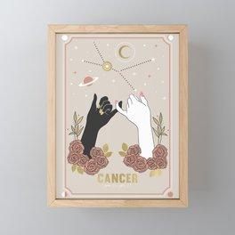 Cancer Zodiac Series Framed Mini Art Print