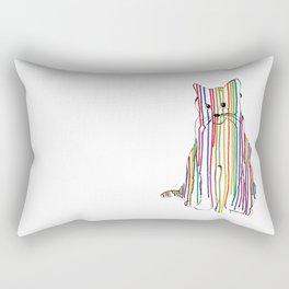 Color Drip Cat Rectangular Pillow