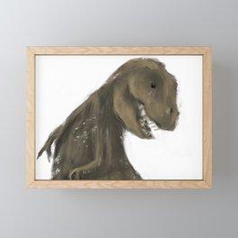 Tracks T Rex Framed Mini Art Print