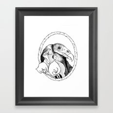 Mr. Vulture Framed Art Print