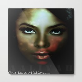 Aaliyah - One in a Million Metal Print